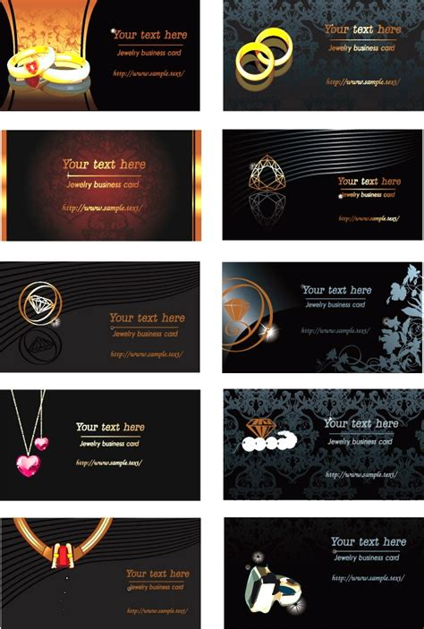 jewelry business card psd template jewelry theme business card template vector material
