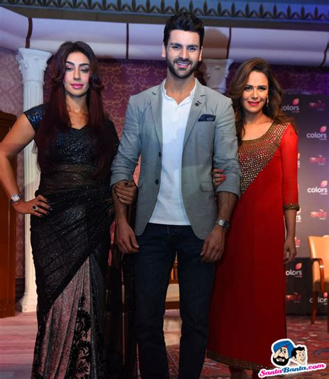 vivek dahiya and mona singh launch of tv serial kawach mahek chahal vivek dahiya