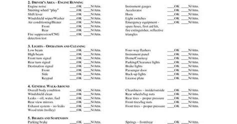 Cdl Pre Trip Checklist Free Cdl Pre Trip Checklist Pre Trip Inspection Sheet