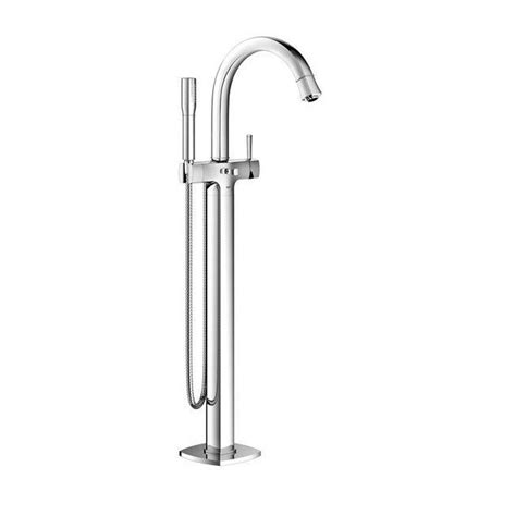 Floor Standing Tub Faucet grohe grandera single handle floor standing tub faucet in starlight chrome 23318000 the