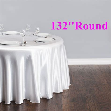 free shipping 10pcs cheap white 132 satin table