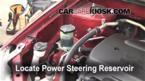 Seal Power Steering Great Corolla follow these steps to add power steering fluid to a toyota