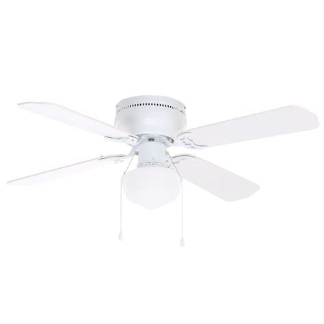 Littleton 42 In Led Indoor White Ceiling Fan With Light