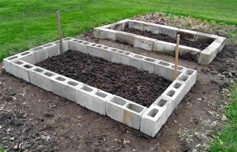 cinder block raised bed cinder block raised bed gardening pinterest