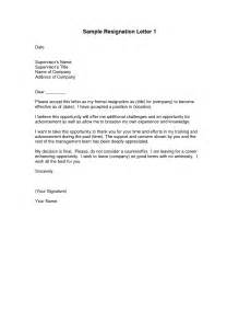 Sample letters of resignation template template