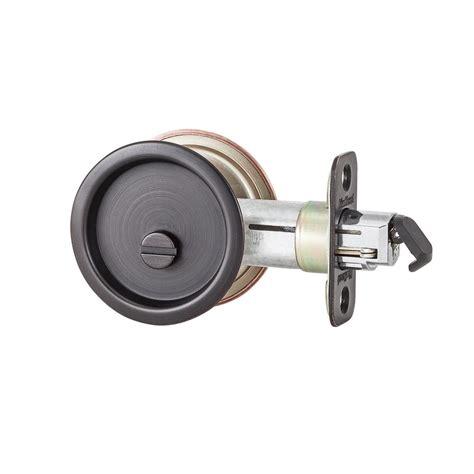 kwikset 335 privacy venetian bronze pocket door lock