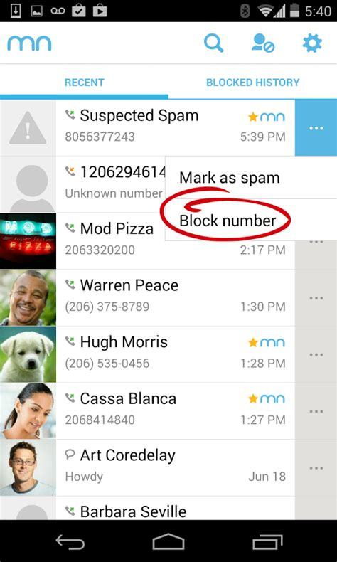 mr number block calls spam android apps on play