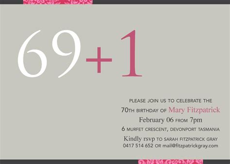 70th birthday card templates free 70th birthday invitations birthday invitations