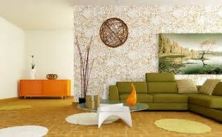 Retro Livingroom Retro White Orange Green Living Room Interior Design Ideas