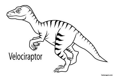 velociraptor coloring page free coloring pages of raptors