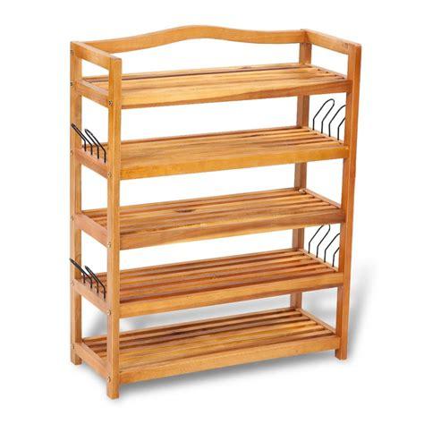 5 shelf wood wooden 5 tier shoe shelf vidaxl com