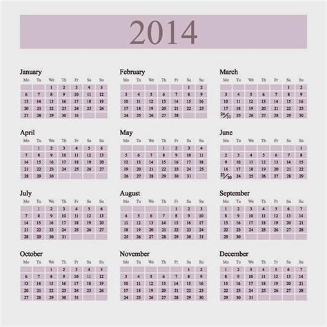 yearly calendar 2014 template free happy new year vector graphics