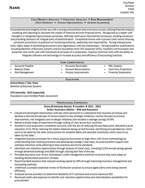 accounting analyst resume exle and tips zipjob