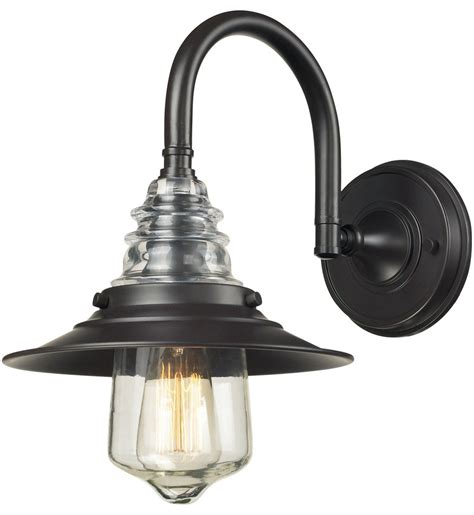 Glass Wall Sconce Light Elk Lighting Insulator Glass 1 Light Wall Sconce Ls