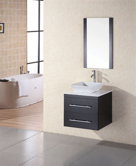 Modern Single Bathroom Vanities 24 Inch Modern Single Sink Bathroom Vanity In Espresso Uvde071cwtp24