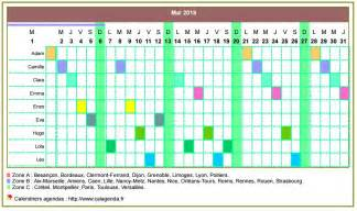 Calendrier Planning Gratuit Calendrier 2018 Planning Horizontal Mensuel