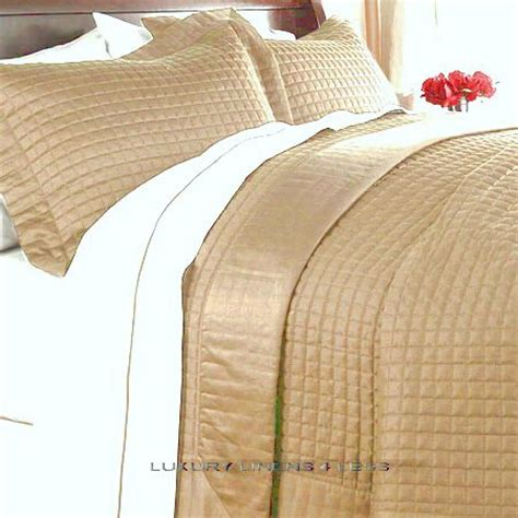 Quilt Or Coverlet by Hotel 400tc Cotton Gold Quilt Coverlet Set King