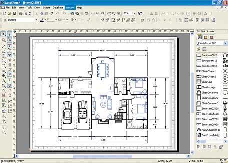 Floor Plan Design Program Autosketch Makes 2d Drawings Easier Pcworld