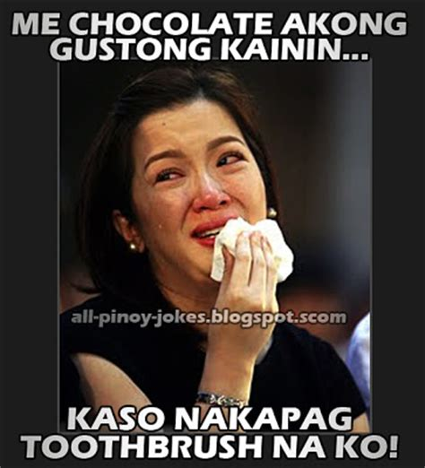 Toothbrush Meme - kris aquino crying meme funny pinoy jokes atbp
