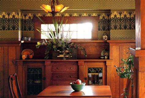 arts crafts dining room  wood panelingwainscoting
