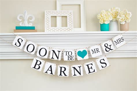 Wedding Reception Banner Sayings by Engagement Decor Bridal Shower Soon To Be Banner
