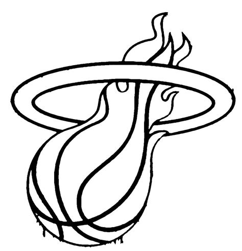 nba coloring pages miami heat logo coloringstar