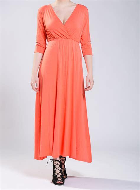 Maxi Dres 3 dress lotus 3 4 sleeves maxi elastic