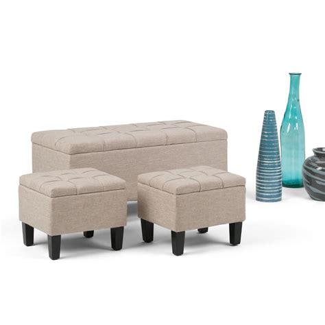 turkish bench simpli home dover natural ottoman bench axcot 238 nl the