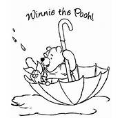 Transmissionpress Winnie The Pooh Coloring Pages  Umbrella