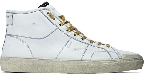 laurent mens sneakers laurent s high top surf sneakers in white in