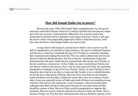 Stalin Essay by Gcse Stalin Coursework Writefiction581 Web Fc2