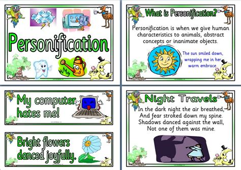 personification picture books in the 4th grade