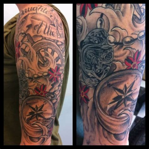 nautical sleeve tattoos nautical sleeves report pic it s broken pic