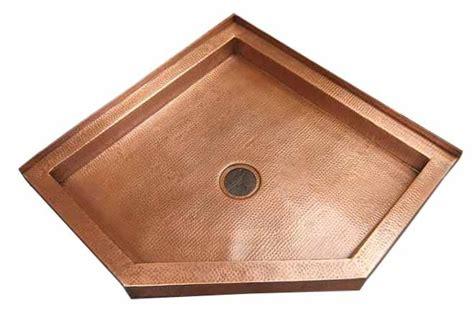 Metal Shower Pan by Custom Copper Shower Pans Or Bases Custom Design