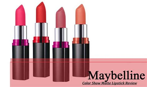 maybelline color review maybelline color show matte lipstick review in