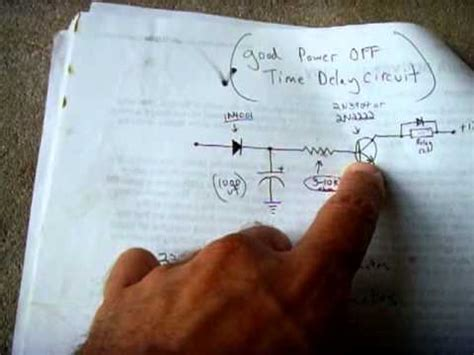 power  time delay relay circuit youtube