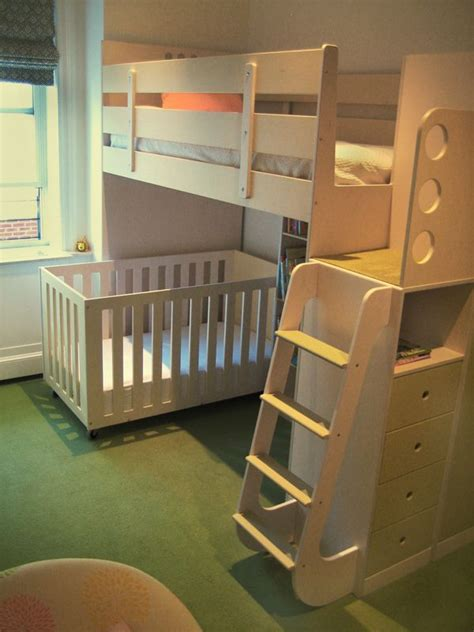 Bunk Bed With Crib On Bottom Best 25 Bunk Bed Crib Ideas On Pinterest Cot Bunk Bed Boy Bunk Beds And Baby And Toddler