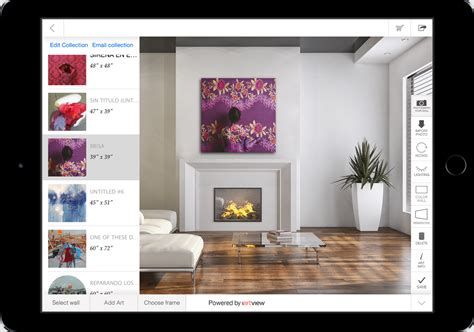 iartview app lets users preview work on their wall of choice