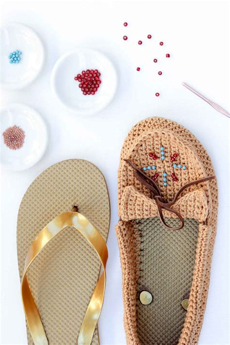 how to make flip flops more comfortable crochet shoes with flip flop soles free moccasin pattern