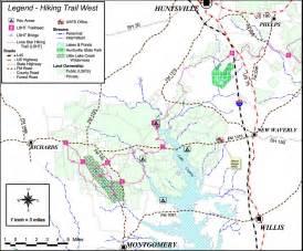 hiking trails map lone hiking trail map
