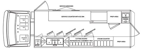 truck cer floor plans food truck floor plans food trucks for sale