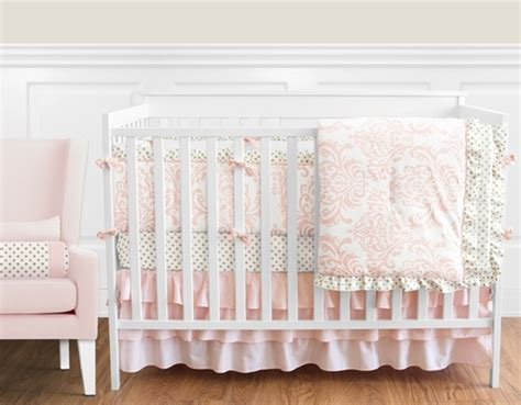 blush baby bedding blush pink gold and white amelia baby bedding 9pc girls crib set by sweet jojo