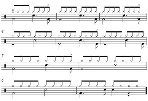 drum pattern pop music licks and riffs vince guaraldilinus lucy free sheet