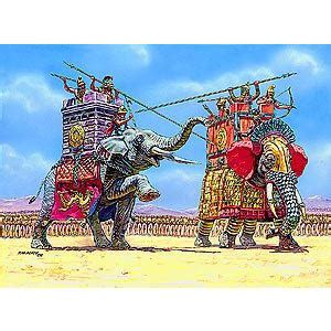 immortali persiani zvezda maquette elephants de combats comparer avec