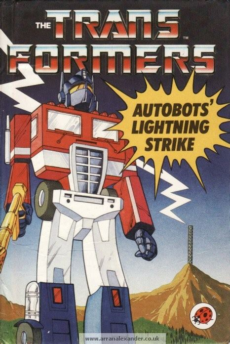 she caused the lightning to strike books autobots lightning strike ladybird book transformers