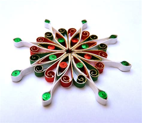christmas decoration quilled quilling folksy