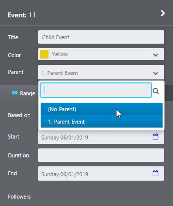 xamarin nested layout nested events aeon timeline