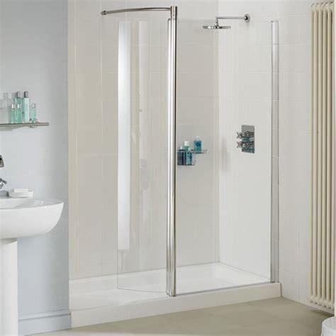 Cheap Bath Shower Mixer Taps 1400mm glass shower screen with swivel glass panel silver