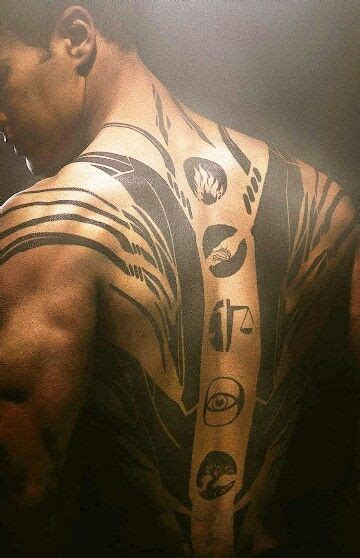 divergent tattoo from the divergent four s of the factions