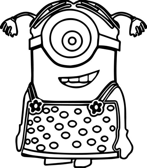 Minion Coloring Pages Best Coloring Pages For Kids Colouring Page